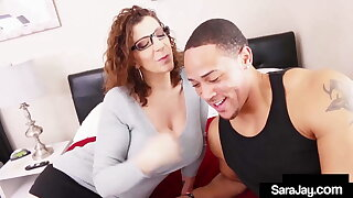 MILF Sara Jay Gets Some Balls From Team Captain After Class!