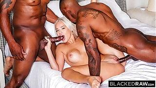 BLACKEDRAW Insatiable Elsa Jean gets spit-roasted by 2 BBCs