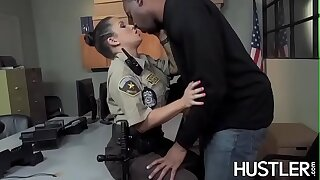 Bobby Charity Bangs facialized in office interracial