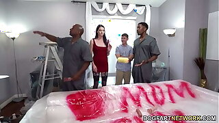 Painters With Beamy Black Weasel words Pound Horny Mom Aria Khaide In advance Of Her Stepson
