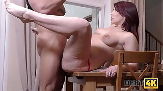DEBT4k. Sally collector will give slay rub elbows with woman time in exchange