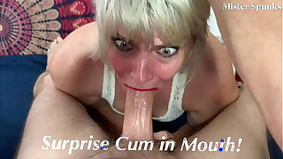 Surprise Cum In Mouth!