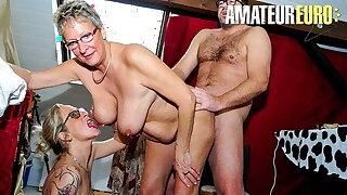 XXX OMAS (Ziska & Erna) Awesome Threeway With Two Sexy Women