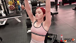 Tough Coach Fucks together with Facefucks Redhead After Workout