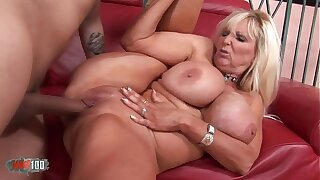 Shove around of age babe banged by a vaillant fucker