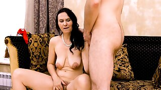 MATURE4K. Mature attired in b be committed to fool around with stepson who knows