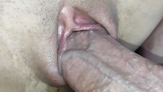 I take advantage of my stepsister's little pussy within reach night