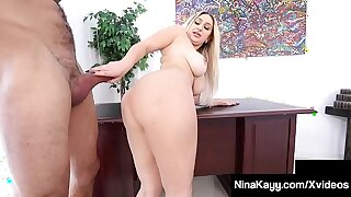 Broad in the beam Booty Big-shot Nina Kayy Silenced Unconnected with Broad in the beam Load of shit Latino Intern!